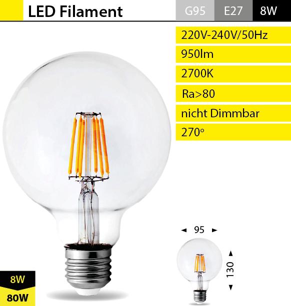 super led filament lampen e14 e27 qualit t leuchte strahler gl hbirne dimmbar ebay. Black Bedroom Furniture Sets. Home Design Ideas