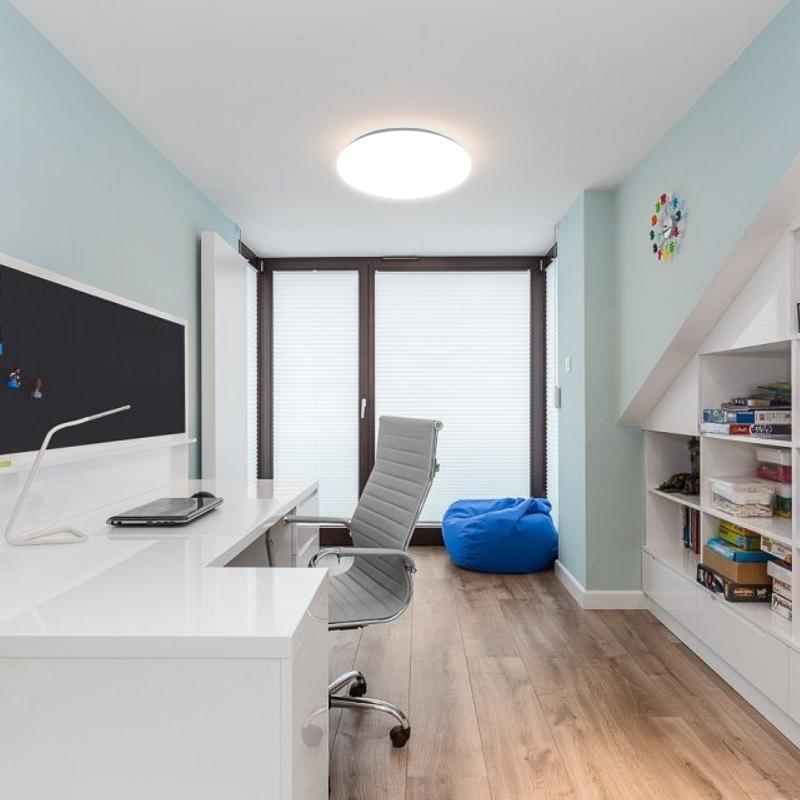 top led 20w 1100lm flurleuchte deckenlampe treppenhaus lampe bewegungsmelder ebay. Black Bedroom Furniture Sets. Home Design Ideas