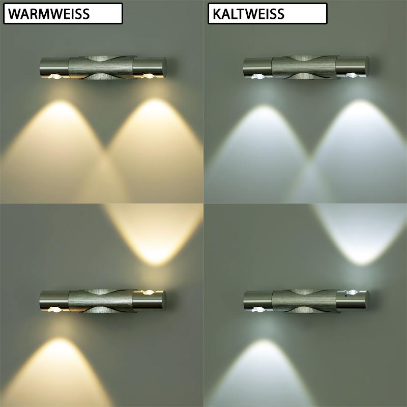Flurlampe Aluminium LED MINI Deko Wandleuchte LED 2W Flurleuchte Innenleuchte