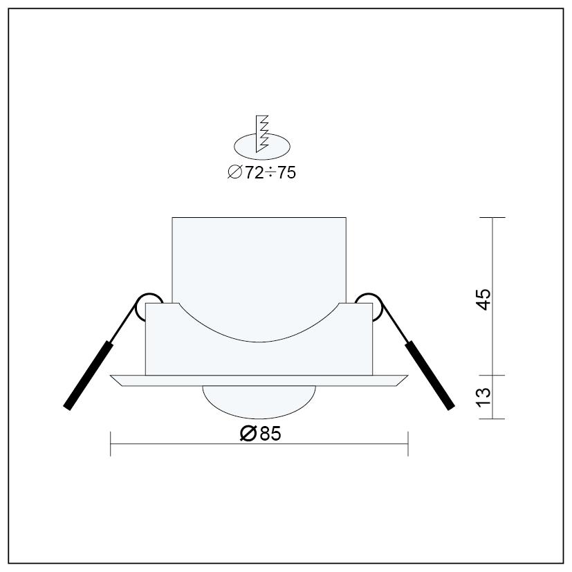 Bewegungsmelder mit Dämmerungsschalter PIR Sensor IP20 weiss 180 Grad Einbau